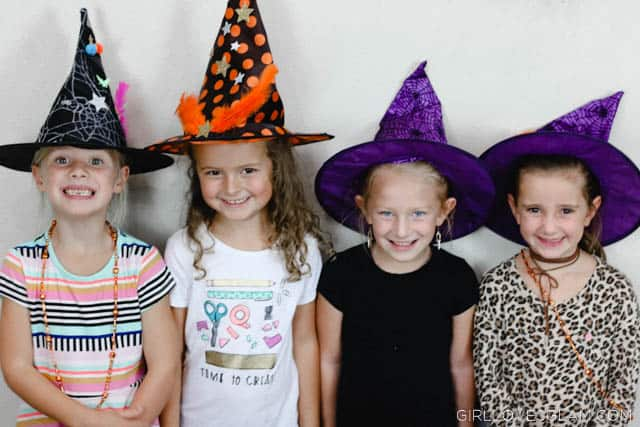 Witch Hat Decorating Halloween Activity on www.girllovesglam.com