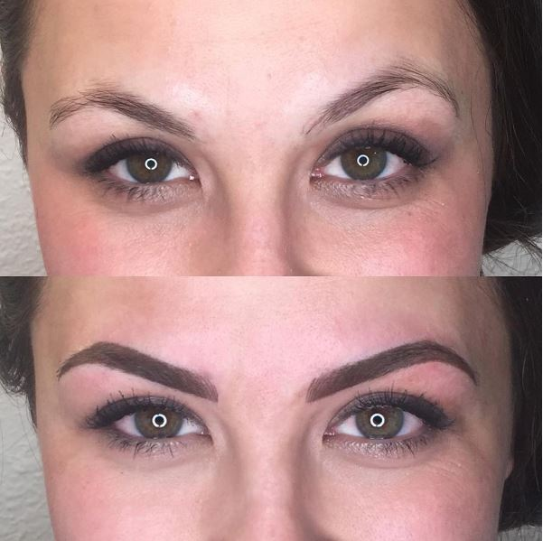 Before and After Permanent Makeup Eyebrows on www.girllovesglam.com