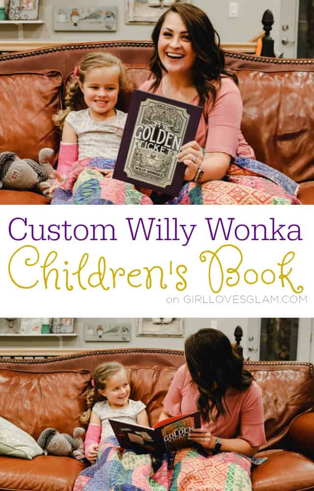 Custom Willy Wonka Children's Book on www.girllovesglam.com