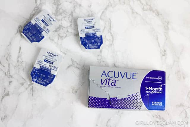 Acuvue Vita Contacts on www.girllovesglam.com