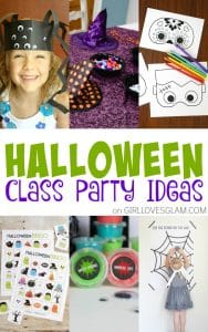 Halloween Class Party Ideas on www.girllovesglam.com