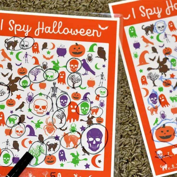 I Spy Halloween Sheet