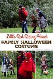 Little Red Riding Hood Family Costume for Halloween on www.girllovesglam.com