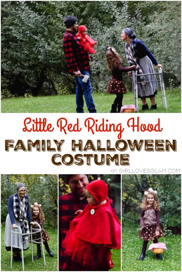 Little Red Riding Hood Family Costume for Halloween on www.girllovesglam.com