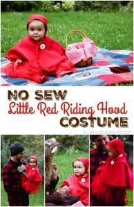 No Sew Little Red Riding Hood Costume for Baby on www.girllovesglam.com