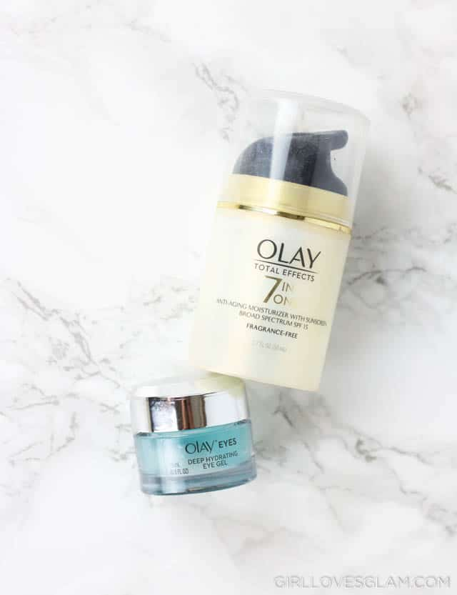 Olay Moisturizer and Olay Eyes Gel on www.girllovesglam.com