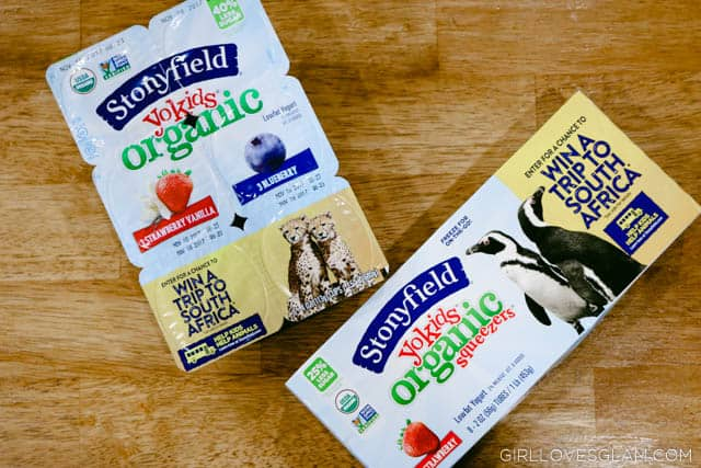 Stonyfield Yogurt snack idea on www.girllovesglam.com