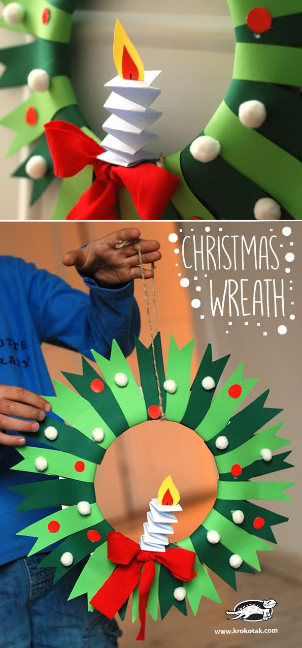 Kid Craft Christmas Wreath