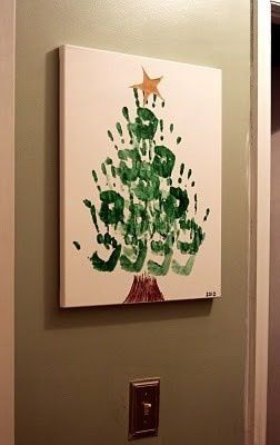 Christmas Tree Handprint Kid Craft