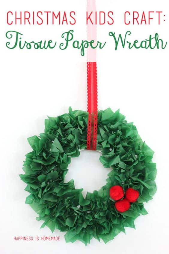 Christmas Wreath Kid Craft