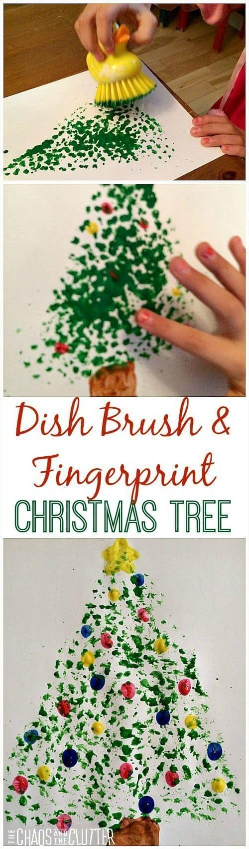 Dip Brush Christmas Tree Craft