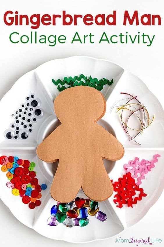 Gingerbread Man Kid Craft