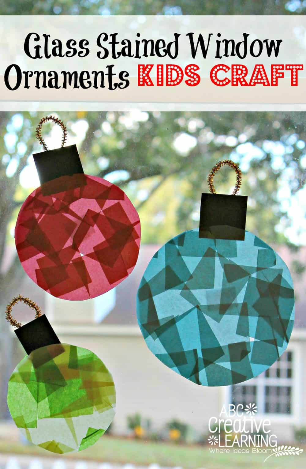 Stained Glass Window Ornament Kid Craft
