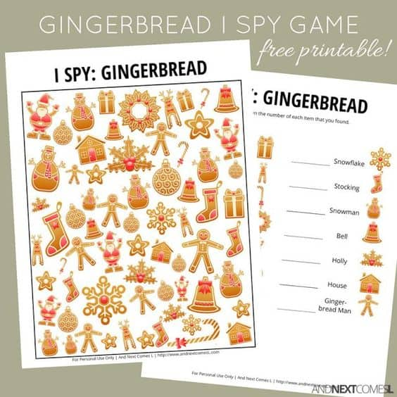 I Spy Gingerbread Game