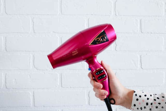 Conair 3Q Blow Dryer in Pink on www.girllovesglam.com