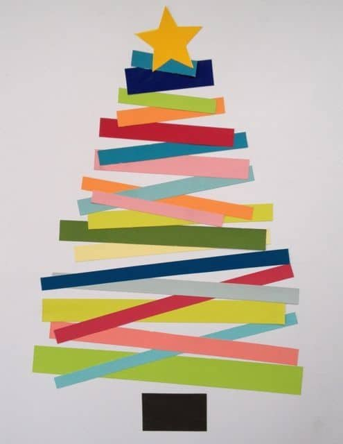 Paper Scrap Christmas Tree Kid Craft