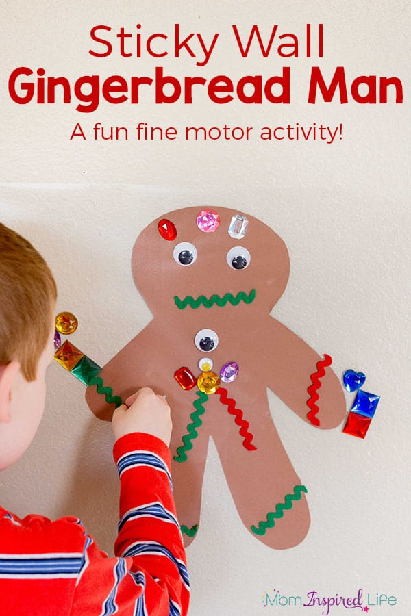 Sticky Wall Gingerbread Man Kid Activity