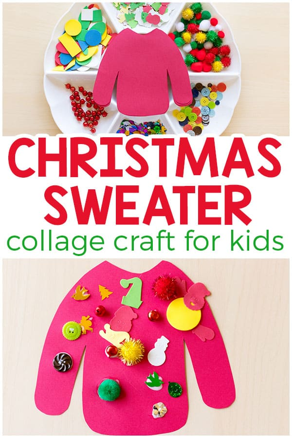 Ugly Christmas Sweater Collage Craft