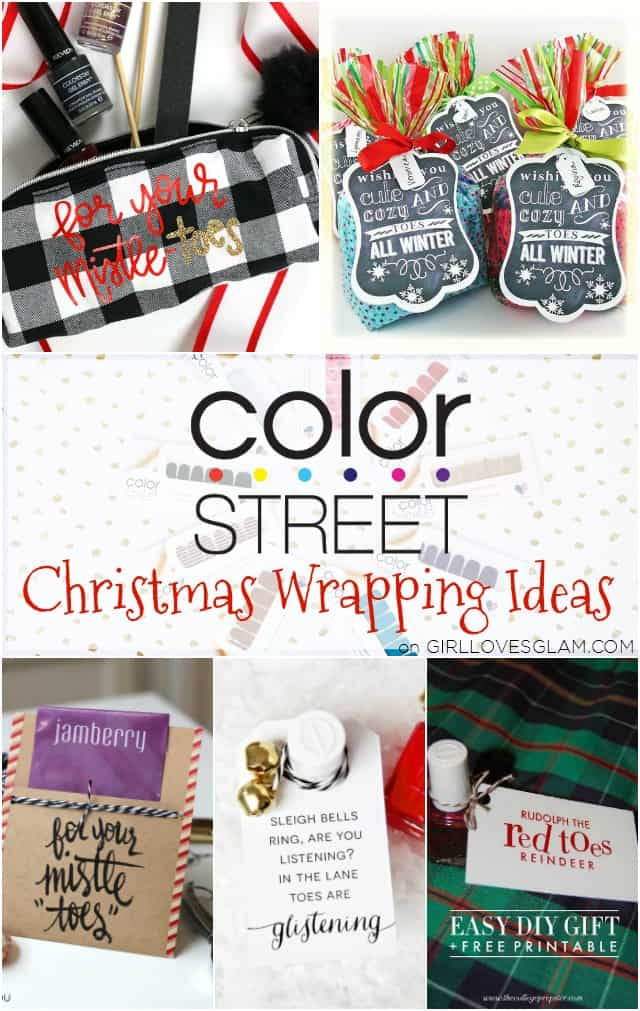 Color Street Christmas Wrapping Ideas on www.girllovesglam.com