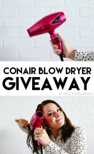 Conair Blow Dryer Giveaway on www.girllovesglam.com