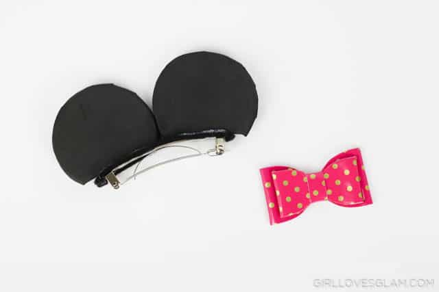 Making Minnie Mouse Ears on www.girllovesglam.com