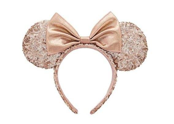 Rose Gold Minnie Ears on Amazon