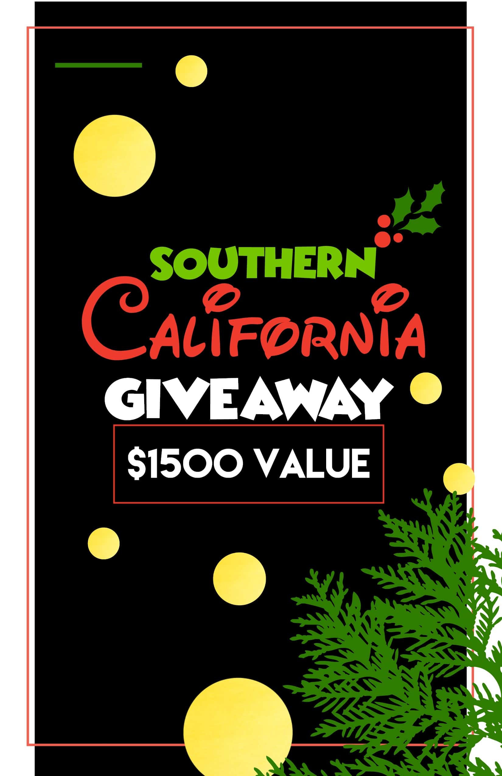 Southern California Giveaway on www.girllovesglam.com