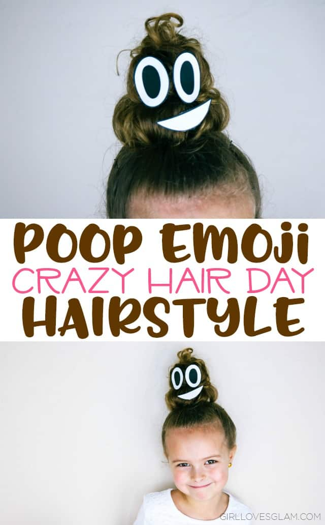 Poop Emoji Hairstyle For Crazy Hair Day Girl Loves Glam