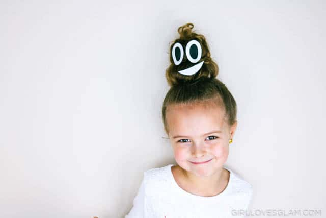 Poop Emoji Hair Tutorial on www.girllovesglam.com