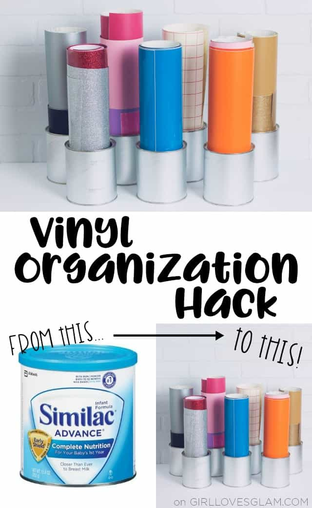 Vinyl Organization Hack on www.girllovesglam.com