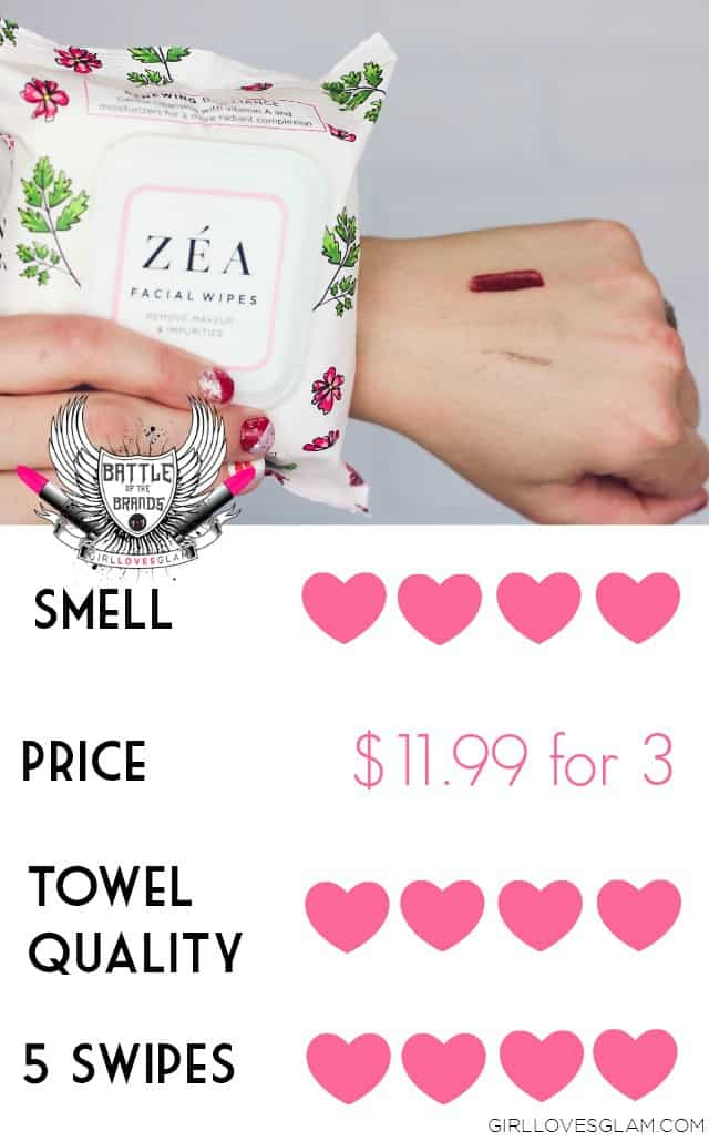 ZEA Facial Wipes Review on www.girllovesglam.com