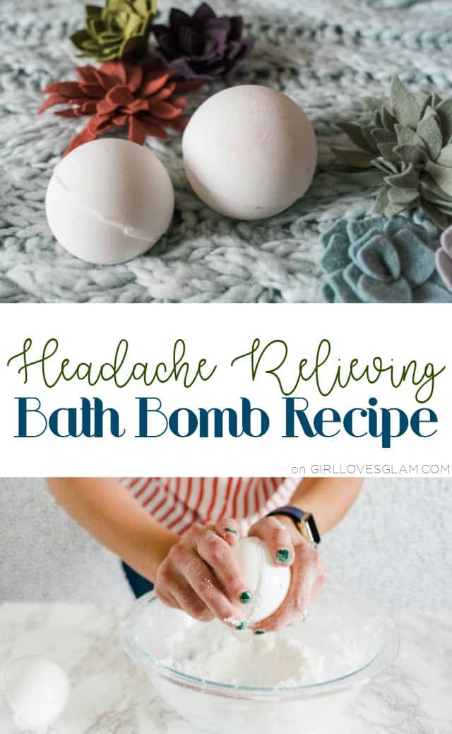Headache Relieving Bath Bomb Recipe on www.girllovesglam.com