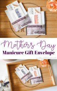 Mother's Day Manicure Gift Envelope