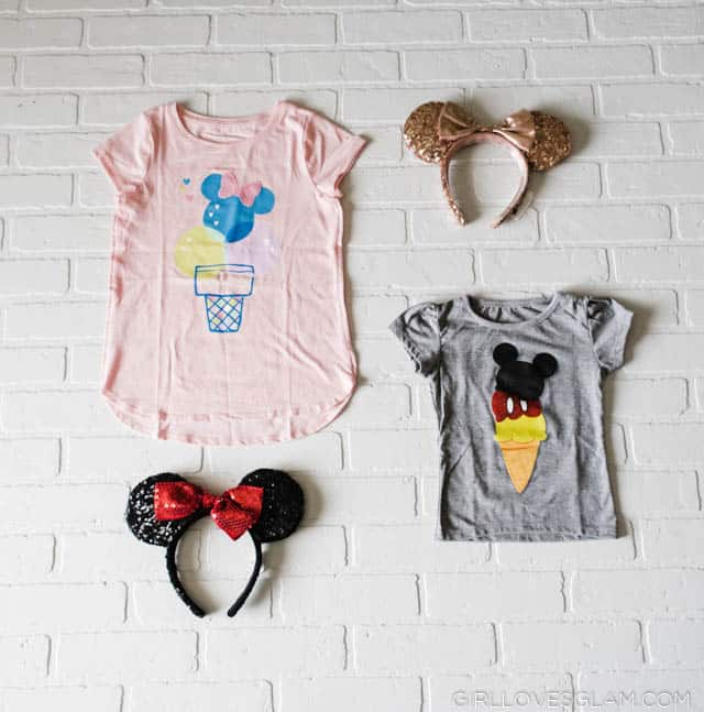 Mickey and Minnie Mouse Ice Cream Shirts