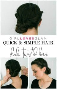 Quick and Simple Hair Bun