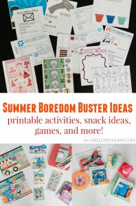 Summer Boredom Buster Ideas