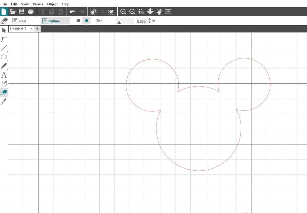 Eraser tool Silhouette Studio