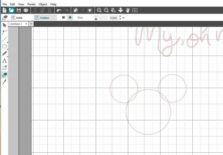 Mickey Head Silhouette Studio