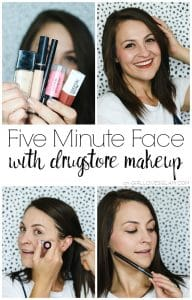 Five Minute Face with Drugstore Makeup