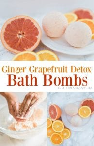 Ginger Grapefruit Detox Bath Bomb Recipe