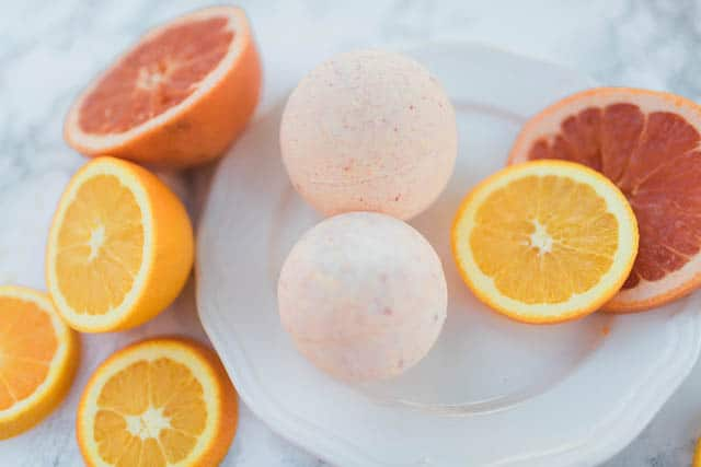 Ginger Grapefruit Detox Bath Bomb