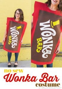 No Sew Wonka Bar Costume