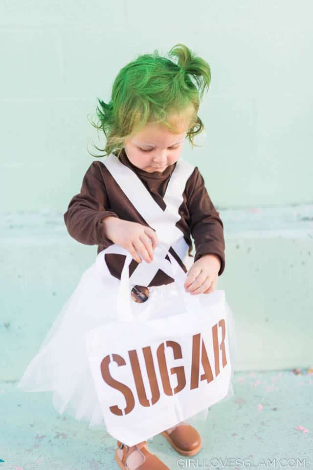 Oompa Loompa Costume with Bag of Sugar