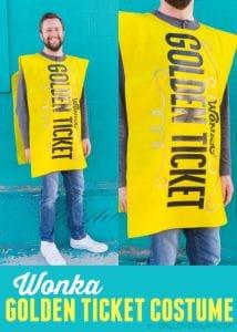 Willy Wonka Golden Ticket Costume