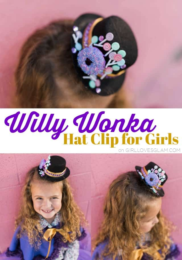 Willy Wonka Hat Clip for Girls