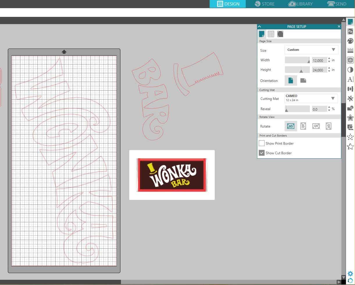 Wonka Bar Silhouette Studio