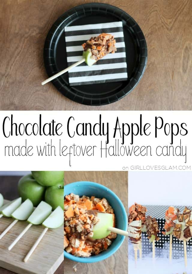 Chocolate Candy Apple Pops