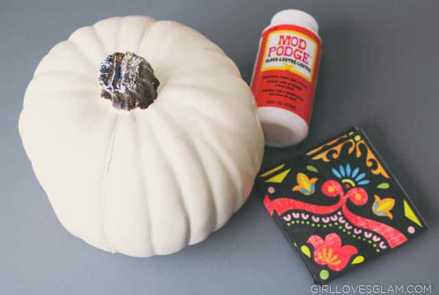 Mod Podge Pumpkin Supplies