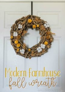 Modern Farmhouse Fall Wreath