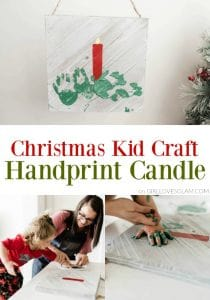 Christmas Kid Craft Handprint Candle on www.girllovesglam.com